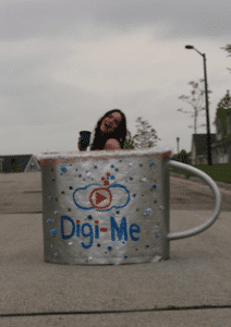 Digi-me Video Recruiting company cup of coffee.